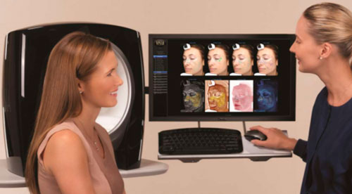 Test y valoración con análysis facial VISIA